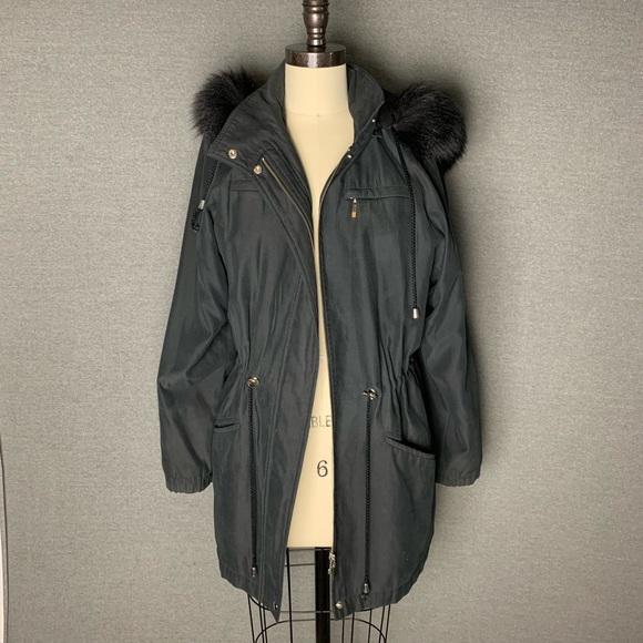 Black Fur Lined Parka